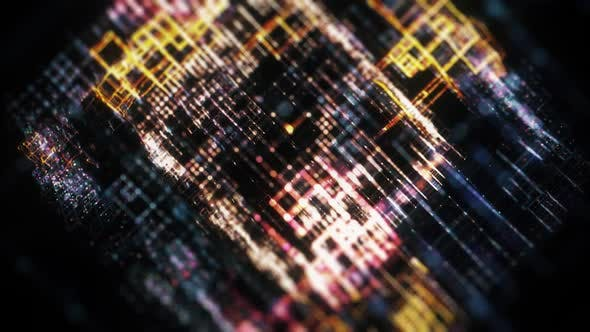 Thumbnail for Abstract Technology Grid Background Loop