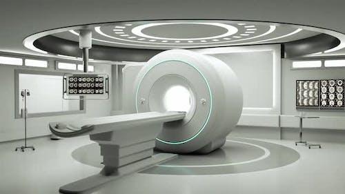 Entering magnetic resonance imaging (MRI) room