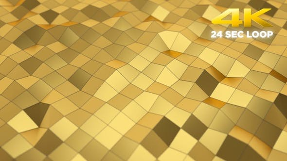 Thumbnail for Gold Abstract Low Poly Background