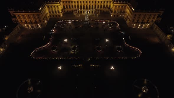 Thumbnail for Aerial of the Christmas Market at Schonbrunn Palace