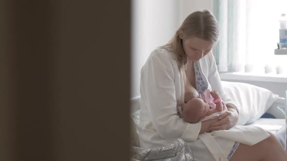 Thumbnail for Newborn Baby Being Breastfed By Her Mother