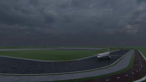 Passagierflugzeug beginnt zum Abheben