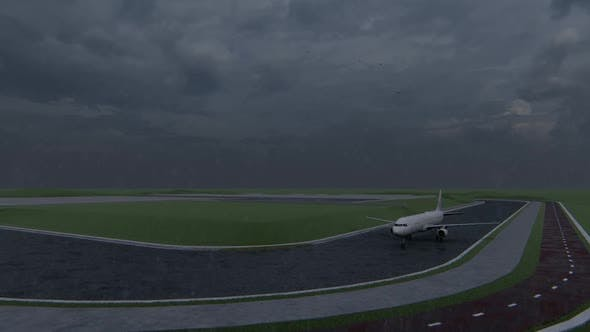 Thumbnail for Passenger Plane Starting to Take Off