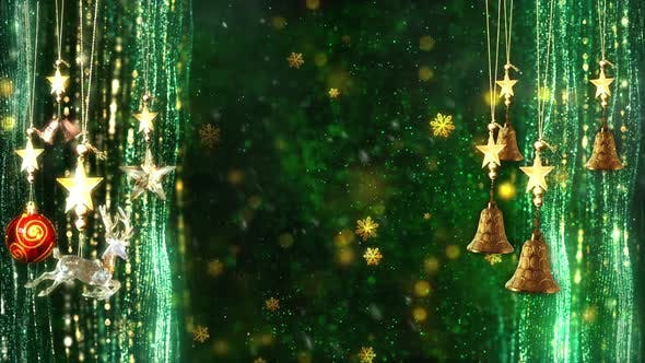 Thumbnail for Christmas Decorations Background 6