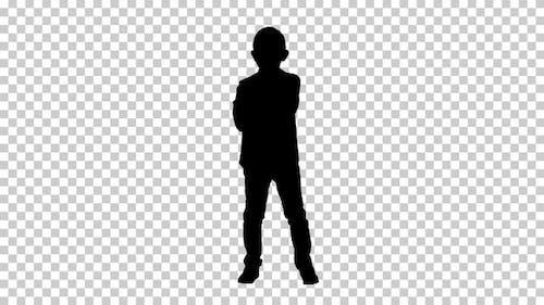 Silhouette  child looking , Alpha Channel