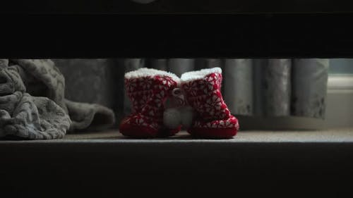 Putting on Slippers for Christmas Day