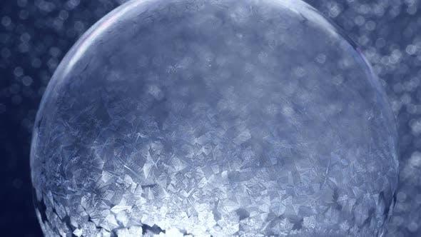 Thumbnail for Christmas Snow Globe Snowflake on Blue Background