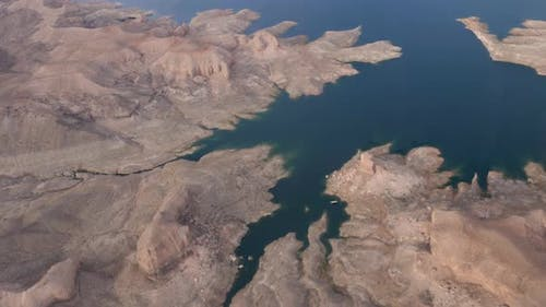 Aerial view of Lake Mead National Recreation Area, Nevada, USA