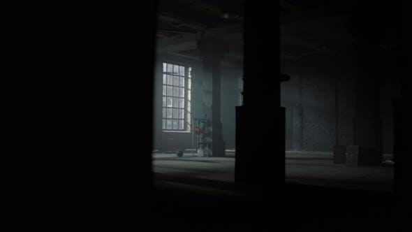Athlete Standing in Loft Building