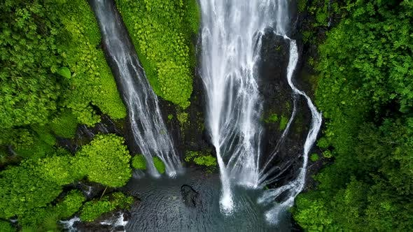 Thumbnail for Amazing Tropical Waterfall in Green Rainforest