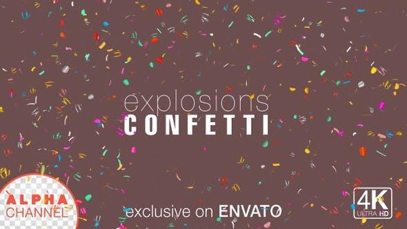 Thumbnail for 4K Multi-color Celebration Confetti Explosions Pack