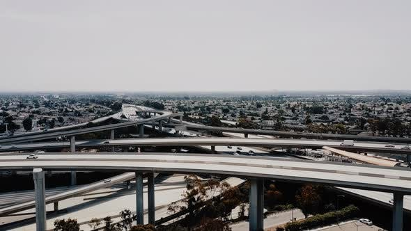 Thumbnail for Large Highway Junction in Los Angeles with Cars Going Through