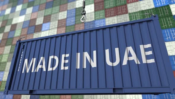 Thumbnail for Container with MADE IN UAE Caption