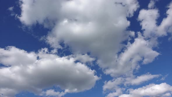 Thumbnail for White clouds in the blue sky, Time-lapse, Beautiful sky on a Sunny day