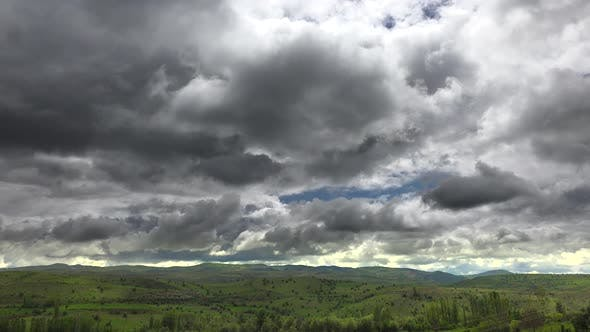 Thumbnail for Cloudy Sky, Green Meadows and Low Hills in Standard Soft Geography