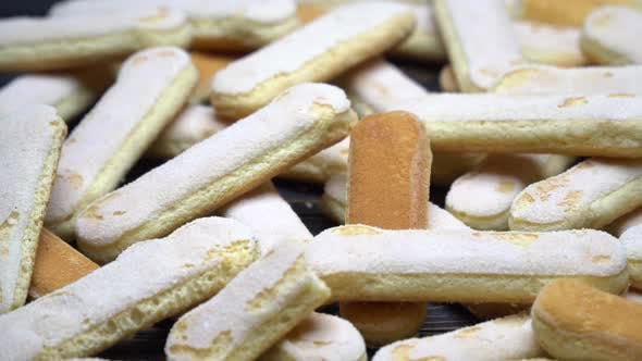 Cover Image for Italian Savoiardi Ladyfingers Biscuits on Wooden Background
