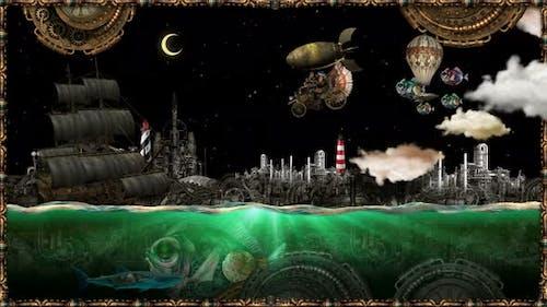 Steampunk The Golden Sea
