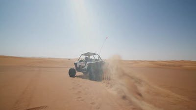 Sand Buggy Driving in the Desert
