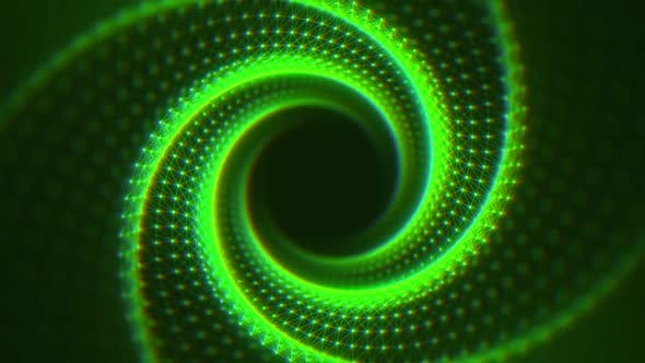 Thumbnail for VJ Fractal Green Light Tunnel with CA