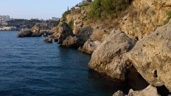View of Rocky Coast and Seascape