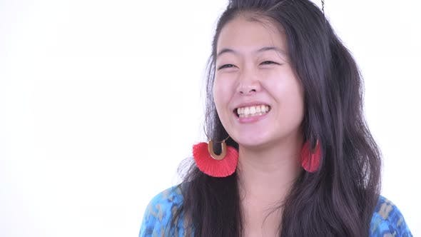 Thumbnail for Face of Happy Beautiful Asian Tourist Woman Thinking and Ready for Vacation