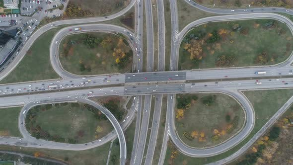 Thumbnail for Top View of Busy Traffic at Bypass Road in Dragalevtsi Boyana, Sofia