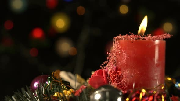 Thumbnail for Christmas Decoration And Red Candle Light 2