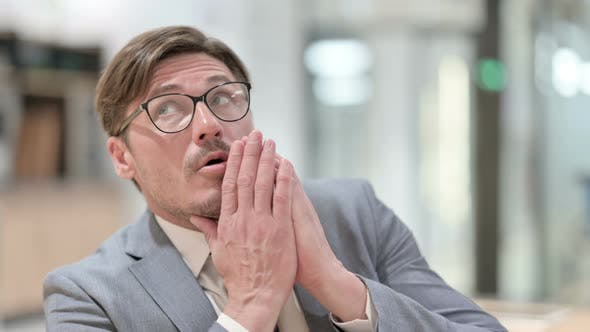 Thumbnail for Portrait of Worried Businessman Feeling Scared, Frightened
