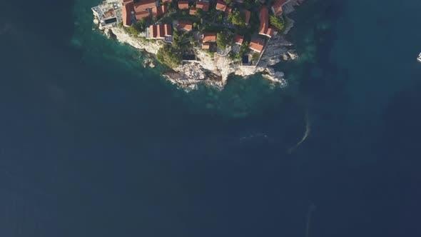 Thumbnail for Aerial Footage of Sveti Stefan Island in Budva
