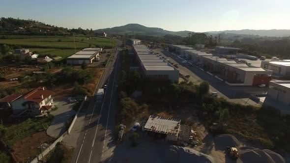 Thumbnail for Traffic Road Near Industrial Park 4K
