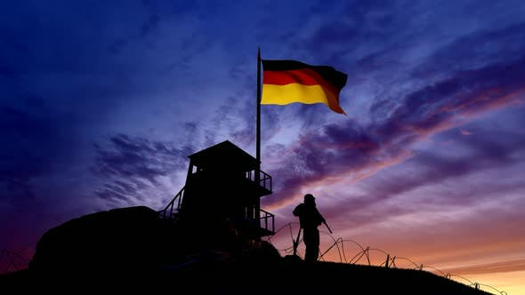 Thumbnail for German Soldier On The Border At Night At The Border