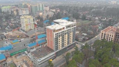 Modern Building Construction Crane