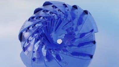 Blue Ice Flower Loop Hd