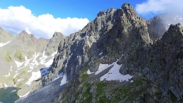 Thumbnail for Flight Over Sharp Mountain Ridge