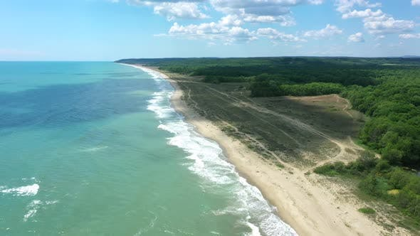 Thumbnail for Aerial view of drone to the beautiful beach