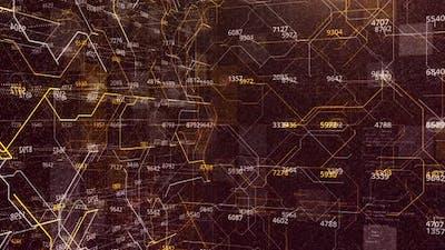 Futuristic background of numeric data