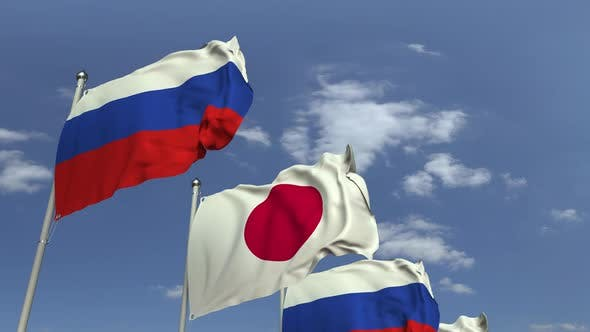 Thumbnail for Many Flags of Japan and Russia