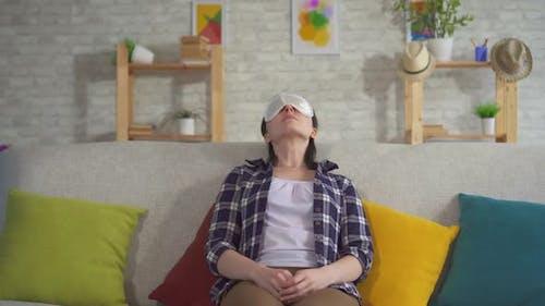 Young Woman Sleeping Sleep Mask