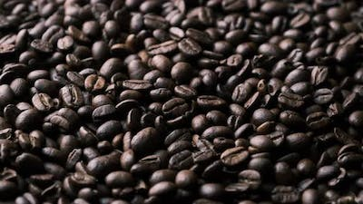 Coffee Beans Rotate Slowly