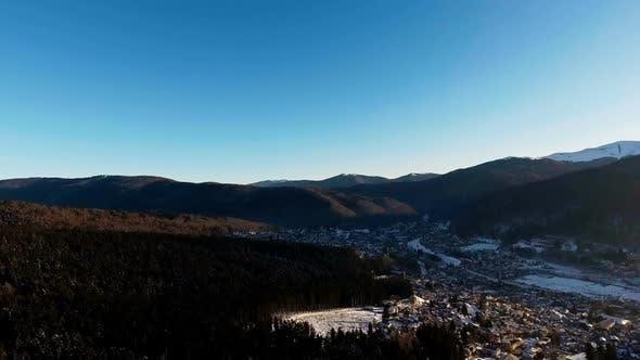 Thumbnail for Winter Sunrise Over Mountain City
