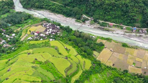 The Village Is in a Valley Among the Rice Terraces