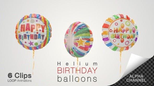 Thumbnail for Birthday Celebration Helium Balloons