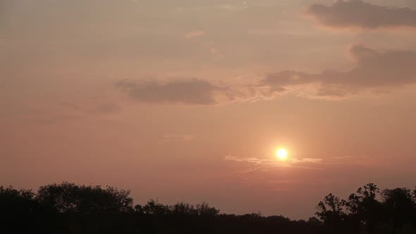 Thumbnail for Beautiful, Romantic Evening Sunset, Time Lapse
