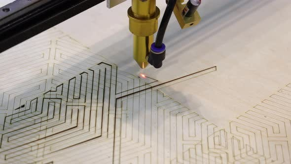 Thumbnail for CNC Burning Laser Woodworking Wood Processing Machine