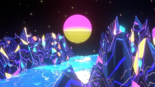 Thumbnail for Neon Mountain Landscape