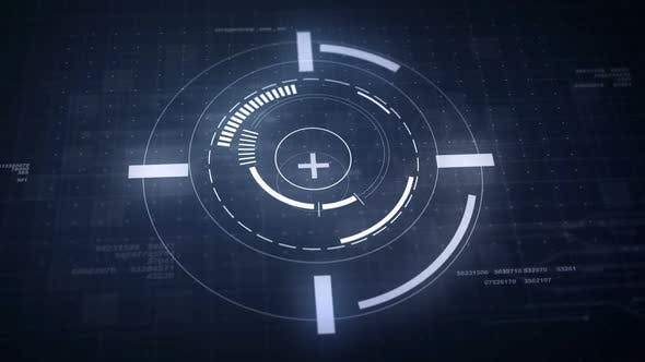 Kreisförmige Hightech-HUD-Symbole
