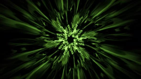 Green Energy Burst Portal Effect 4K 01