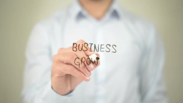 Thumbnail for Business Growth, Businessman Writing on Transparent Screen