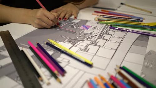 Architectural Drawing Painting