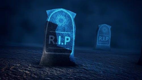 Rest In Piece Tombstones Cemetery